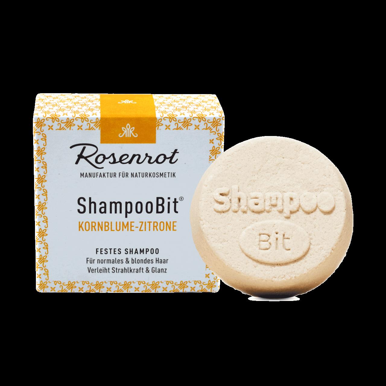 ShampooBit® - festes Shampoo Kornblume-Zitrone