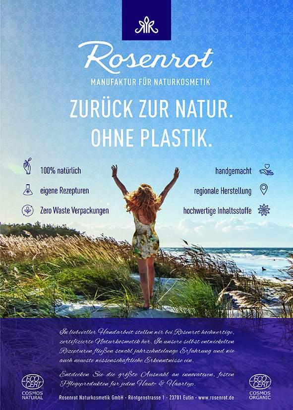 Poster Rosenrot Philosophie DIN A1
