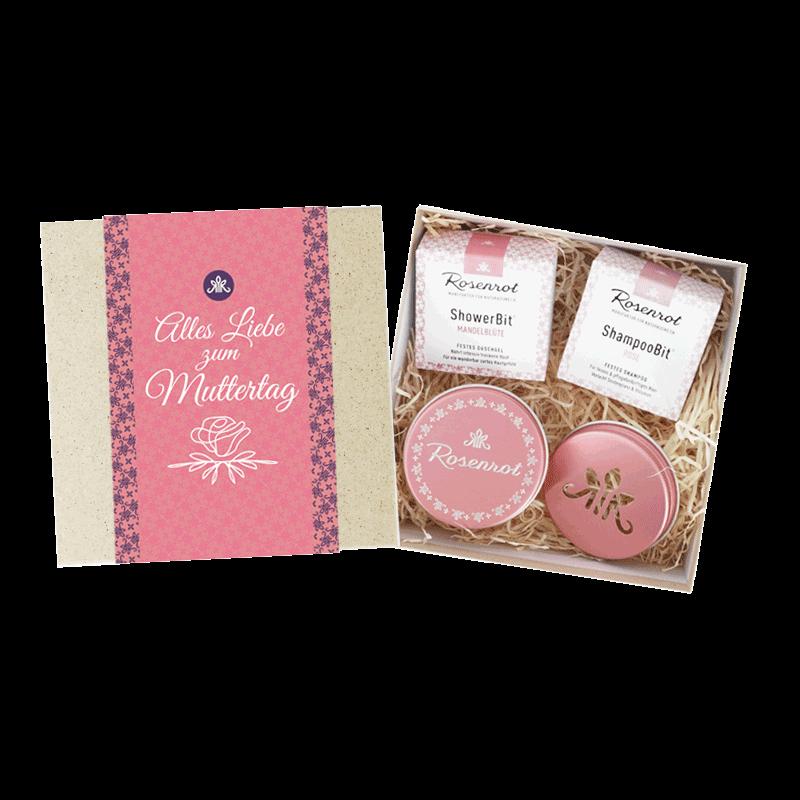 Rosenrot Geschenk-Set Muttertag