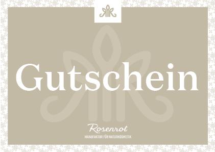 Rosenrot Geschenkgutschein Digital
