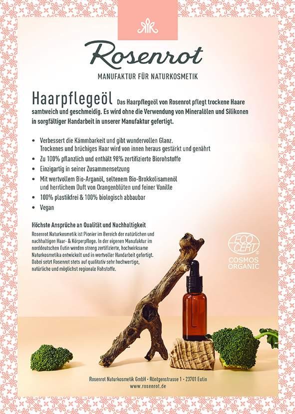 Standschild Haarpflegeöl