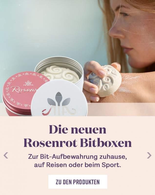 Die neuen Rosenrot Bitboxen - ZU Bit-Aufbewahrung zuhause auf Reisen oder beim Sport.